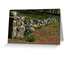 Floral Stonewall Greeting Card