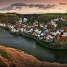 Staithes at sunset by SteveJackson