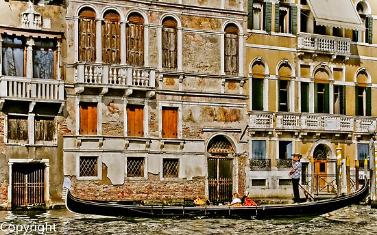 Gondola Ride in Venice Italy by KSKphotography