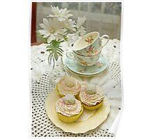 Three Vanilla Cupcakes Poster