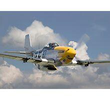 P51D Mustang - Comin' at Ya Photographic Print