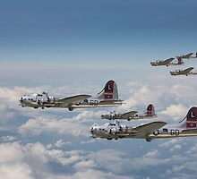 B17- 381st Group Outbound by warbirds