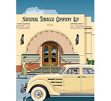 Art Deco Napier Tobacco Building with Chrysler Airflow Photographic Print