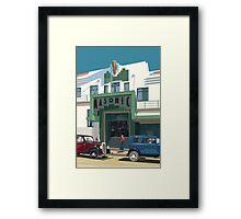 Art Deco Napier Masonic Hotel Framed Print