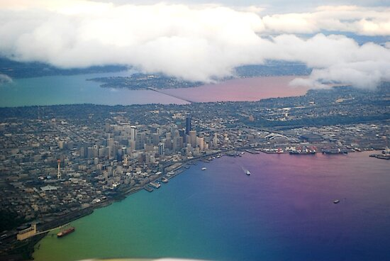 Seattle on Approach  by Tori Snow
