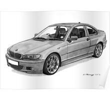 BMW 320 E46 Coupe Poster