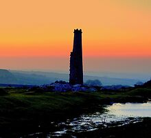 The Cornish Tin Mine at Dawn by Sarah Dawson-Spackman