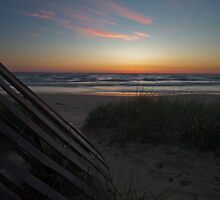 A Peaceful dunes and beach scene at dawn by Sven Brogren