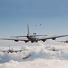 B17 Formation  - '12 o'clock high' by warbirds