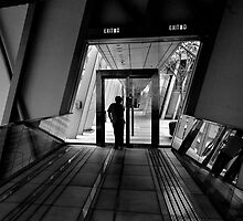 Heading for the exit by robigeehk