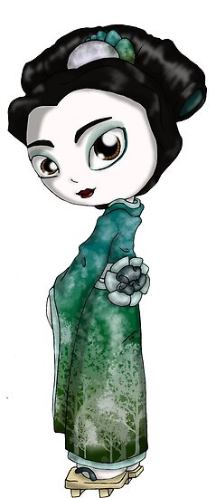Frosted Spring Geisha II by thedustyphoenix