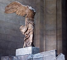Winged Victory Louvre  1957 09200011  by Fred Mitchell