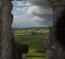 Carreg Cennen castle view by John Hallett