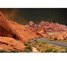 ☀DRIVING THROUGH THE VALLEY OF FIRE STATE PARK NEAR LAS VEGAS NEVADA ☀ Photographic Print