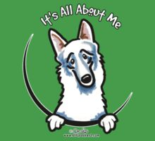 Pocket White German Shepherd :: Its All About Me T-Shirt