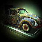 Mexican Huichol Indians beadwork on Volkswagen Beetle by debidabble