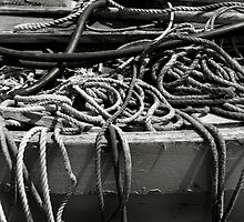 Ropes used in fishing - Brancaster Staithe  by Richard Flint