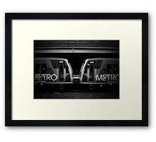 Metro Trains Framed Print