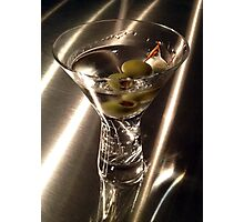 Martini on Stainless Photographic Print