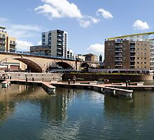 Limehouse Basin Panorama II by John Gaffen