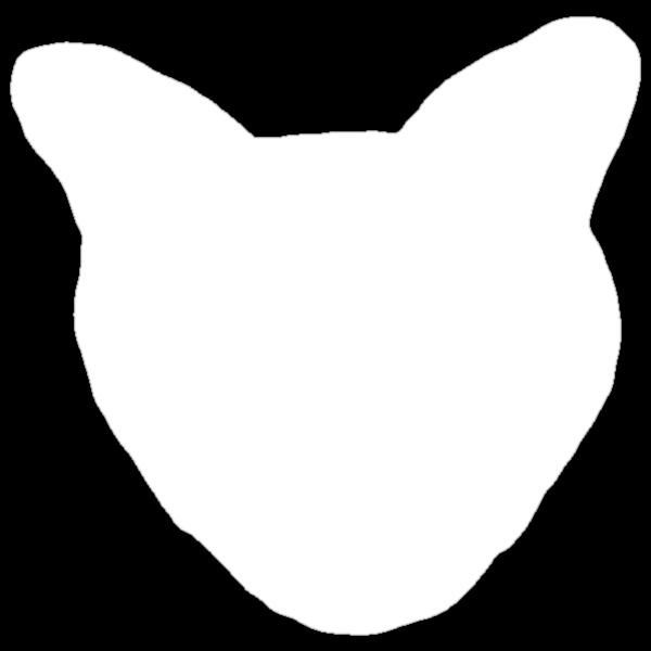Cat Head tee white version by Margaret Bryant