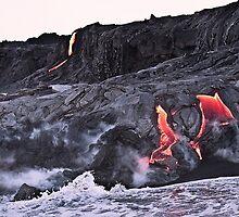 Lava Flow at Kalapana 10 by Alex Preiss