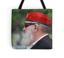 Red Beret on ANZAC Day Tote Bag