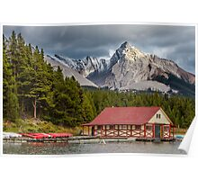 Maligne Lake and Leah Peak Poster