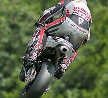 Motorbike racing . Carl ( Bomber ) Harris. by Kit347