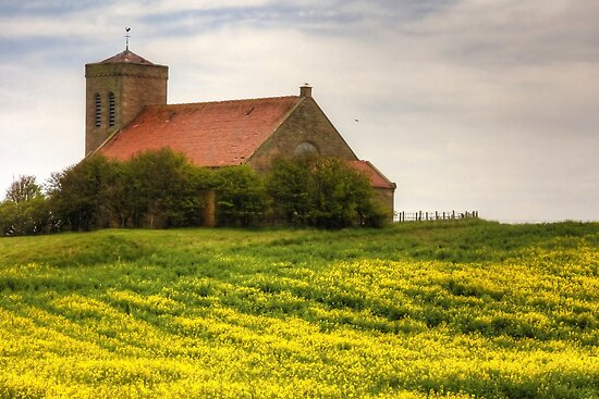 St Abbs Church in Rapeseed by Tom Gomez
