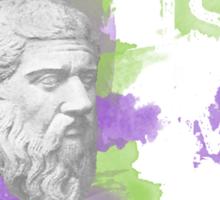 Plato is my homeboy Sticker