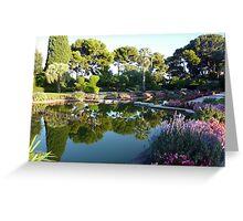 The Garden Of The Rothschild Villa On Cap Ferrat Greeting Card