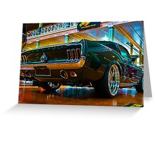 1967 Green Mustang Greeting Card