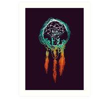 The Dream catcher (rustic magic) Art Print