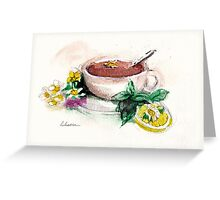 Afternoon Tea - watercolor painting  Greeting Card