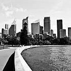 Sydney CBD Black and White by William Goschnick