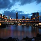 Story Bridge at night by William Goschnick
