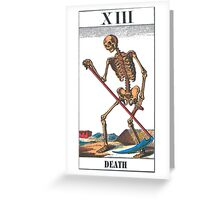 Death Tarot Card Greeting Card