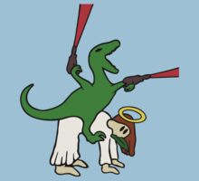 Dinosaur Riding Jesus by jezkemp