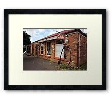 Beautiful Tasmania - penny farthing Framed Print