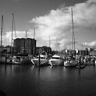 Docks (Black & White) by Cake