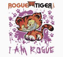 RogueTiger.com - Smirk Logo Pink (light) by roguetiger