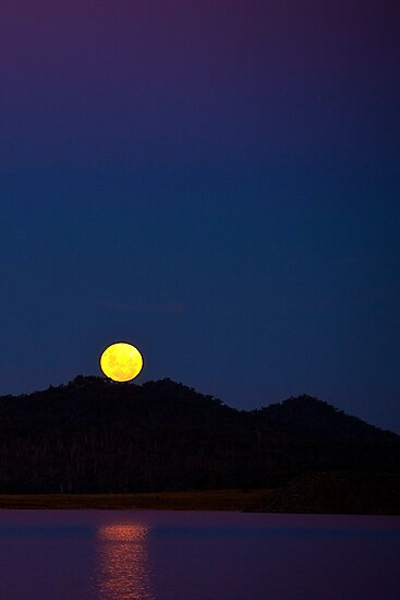 Full Moon, Wivenhoe Dam, Queensland by Jaxybelle