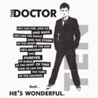 Doctor Who - ...he&#x27;s wonderful (variant 2) by glassCurtain