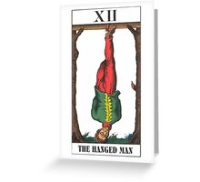 Hanged Man Tarot Greeting Card