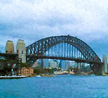 Sydney Harbour Bridge painting by iLens