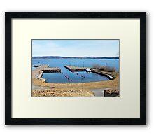 Visingsö's harbour Framed Print