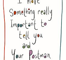 Postcard like to be read by Postal workers. by twisteddoodles