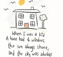 When I was a kid.  by twisteddoodles