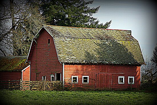 Old Red Barn by aussiedi